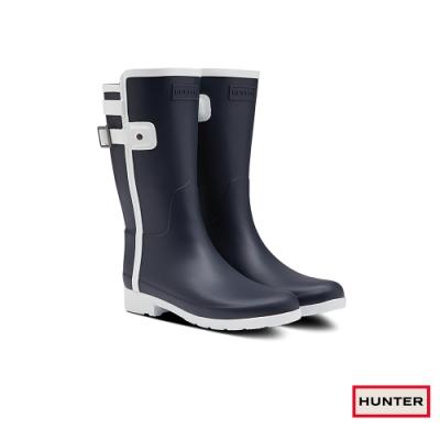 HUNTER - 女鞋 - Refined撞色拼接霧面短靴 - 藍