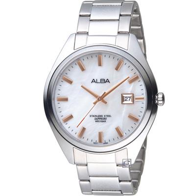 ALBA 漫步都會時尚腕錶(AS9F65X1)白/42mm