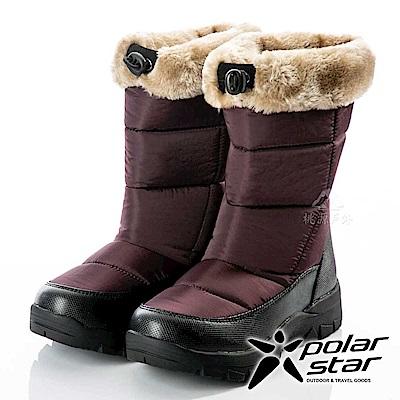 PolarStar 女保暖雪鞋『褐紫』P18628 冰爪 / 內厚鋪毛 /防滑鞋底