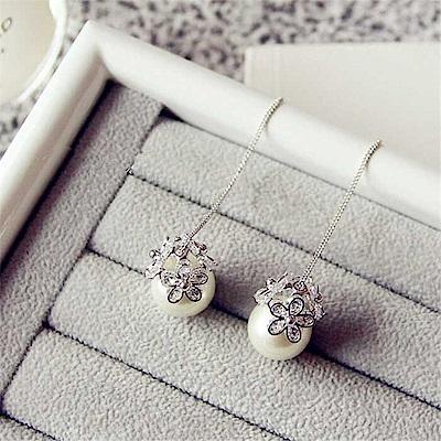 梨花HANA  韓國S925銀針小雛菊珍珠花球耳線耳環