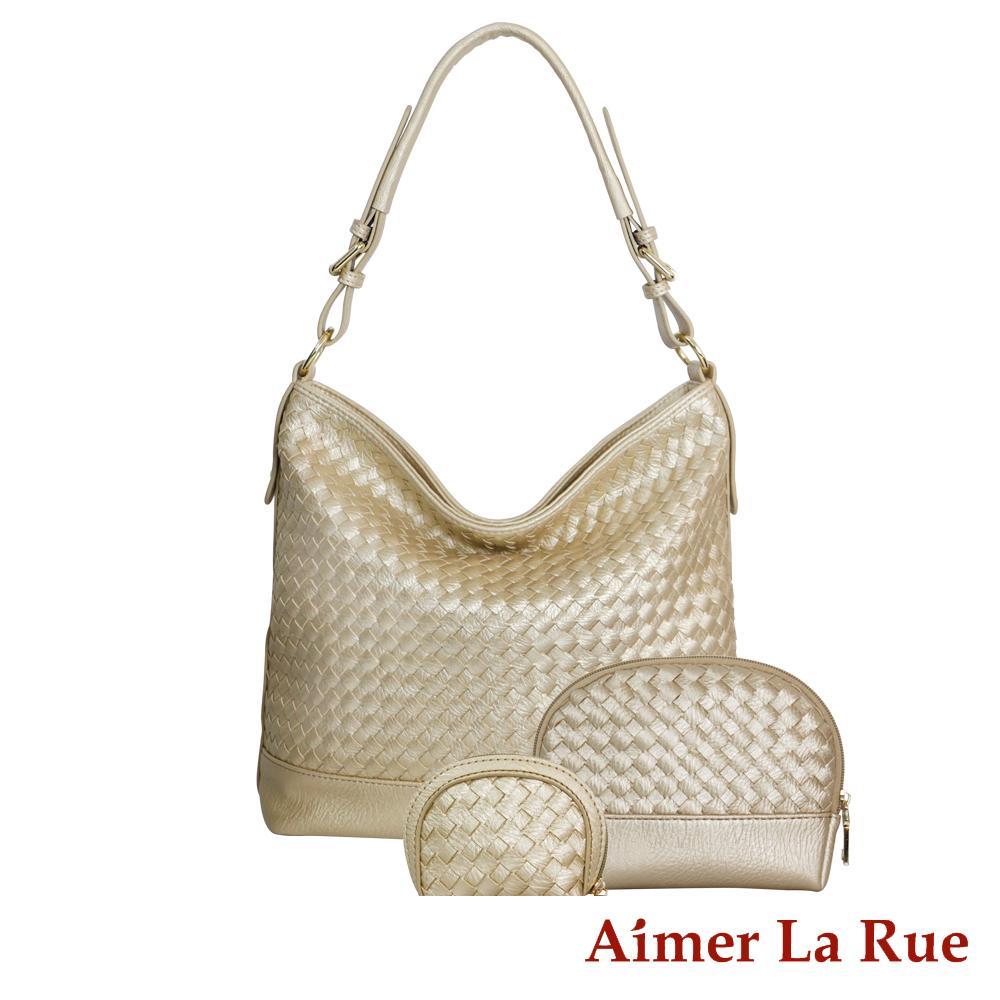 Aimer La Rue 浪漫編織手提三件組(二色) @ Y!購物