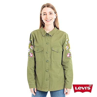 Levis 襯衫 女裝 花卉刺繡