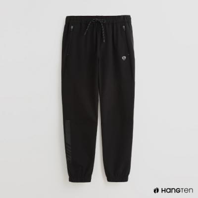 Hang Ten - 男裝 - ThermoContro-防水機能鬆緊抽繩長褲-黑
