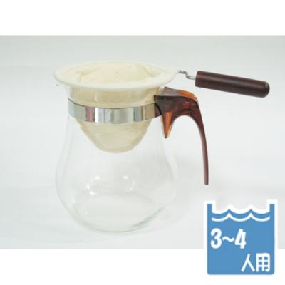 寶馬牌法蘭絨手柄咖啡濾網3~4人×4入