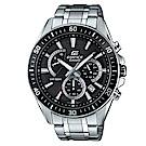 EDIFICE 極速時尚魅力俐落帥氣指針腕錶(EFR-552D-1A)黑框/47mm