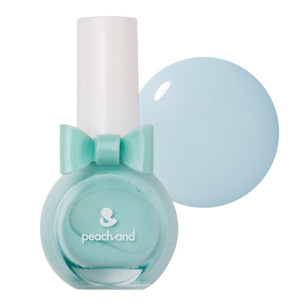 PeachAnd 兒童安全水溶性蝴蝶結指甲油 兒童孕婦專用彩妝 #艾莎薄荷淡藍