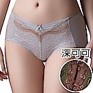 思薇爾 薔薇魅影系列M-XL蕾絲中低腰平口內褲(深可可)