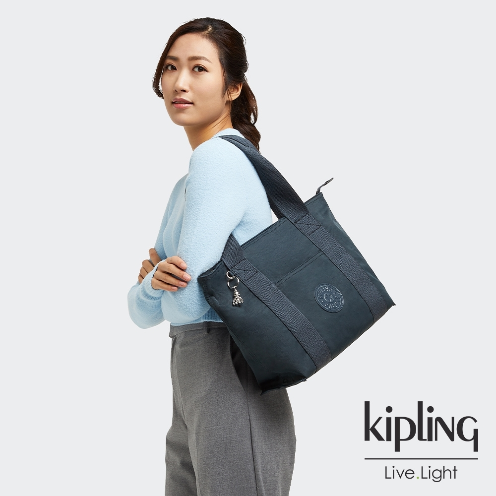 Kipling 知性優雅藍手提包-ERA S