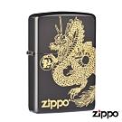 日系Zippo 黑金祥龍紋-浮雕防風打火機#ZA-5-111c