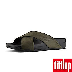 FitFlop SURFER SLIDE IN PERFORATED 迷彩綠