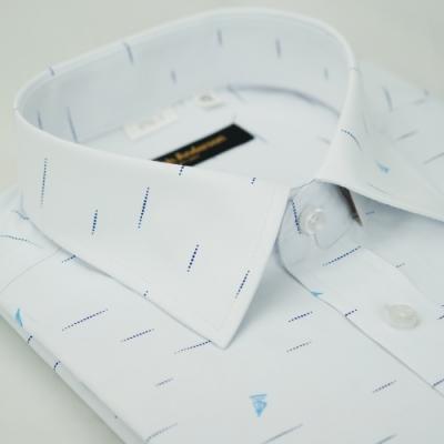 【金‧安德森】帆船白色窄版短袖襯衫