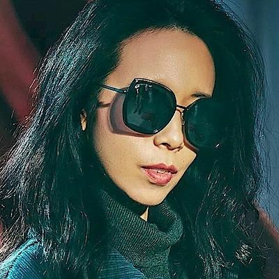SEROVA偏光太陽眼鏡 流行百搭款/黑-白水銀 #SS9028 C16