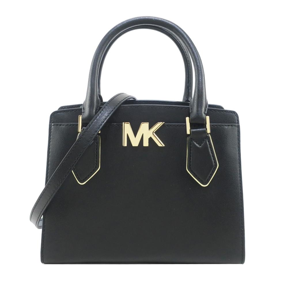 MK MICHAEL KORS MOTT三層手提斜背兩用包-中/黑
