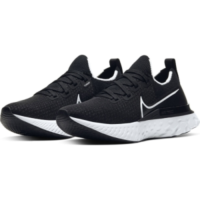 NIKE 運動鞋 輕量 慢跑 路跑  女鞋  黑 CD4372002 REACT INFINITY RUN FK