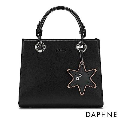 達芙妮DAPHNE-俏皮海星手提肩揹小方包-黑