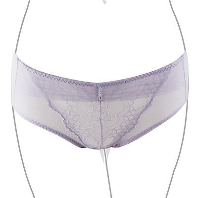 推EASY SHOP-沁甜戀曲 中低腰平口褲(清恬紫)