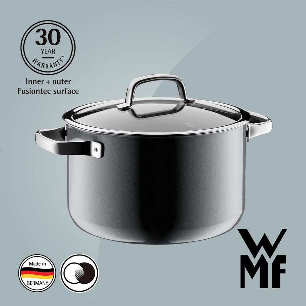 德國WMF FUSIONTEC 高身湯鍋(24CM)(6.4L)(鉑灰色)(福利品)