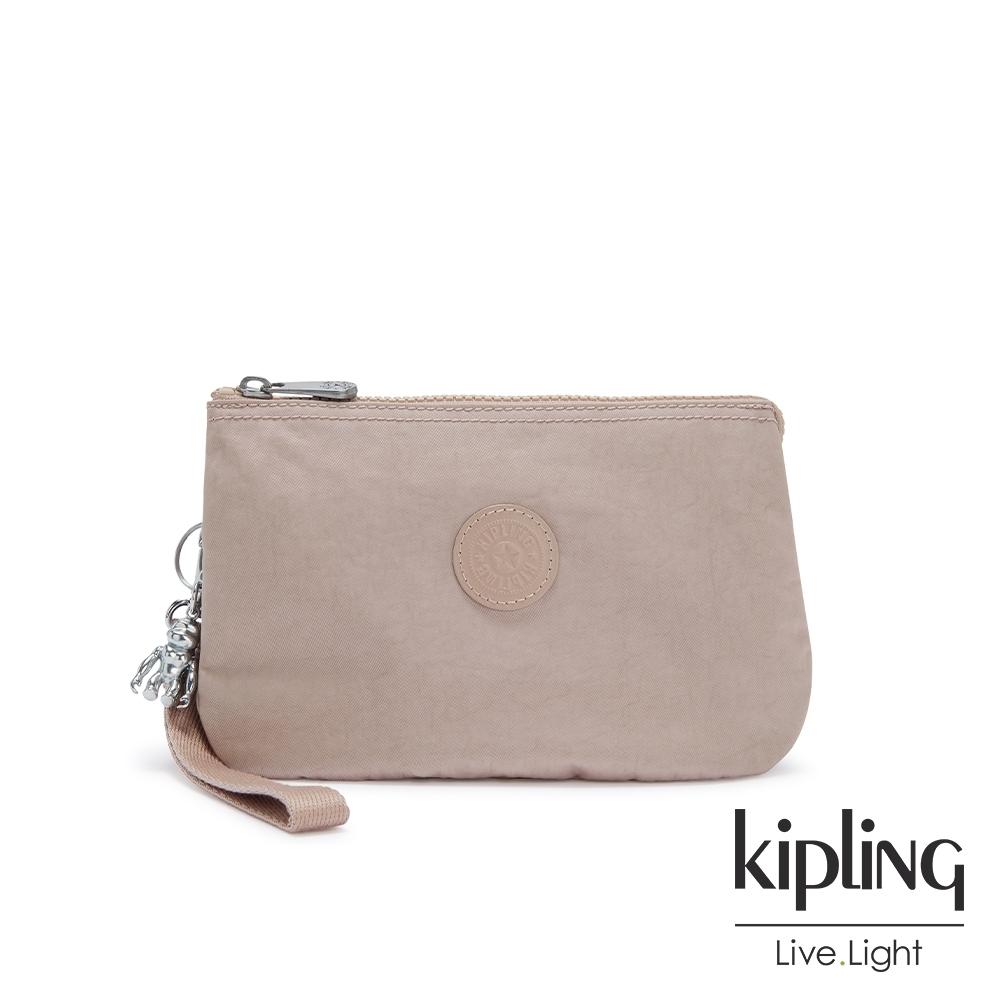 Kipling 玫瑰拿鐵色多層配件包-CREATIVITY XL
