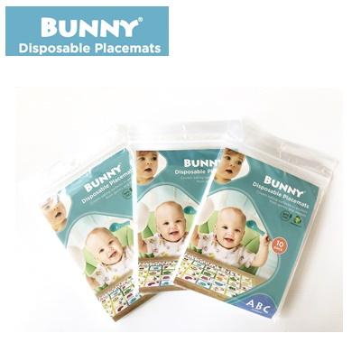 【BUNNY】嬰幼兒拋棄式餐桌墊- 學習ABC / 隨身包/ 3入組/ 兒童餐墊