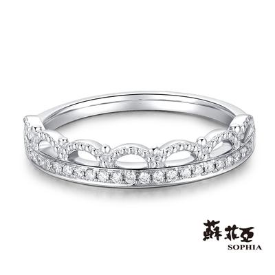 SOPHIA 蘇菲亞珠寶 - 公主皇冠 18K 鑽石戒指