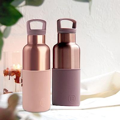 HYDY保溫瓶_CinCin Déco雙杯保溫瓶組480ML-拿鐵/乾燥玫瑰-蜜粉金