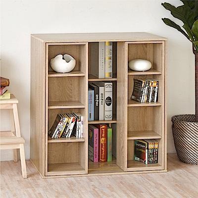 《HOPMA》DIY巧收大容量雙排活動書櫃-寬80 x深40.5 x高93cm