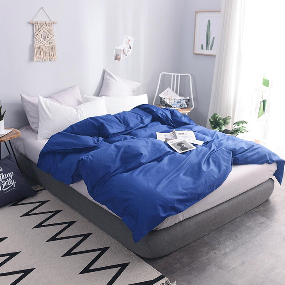 澳洲Simple Living 雙人300織台灣製純棉被套(普魯士藍)