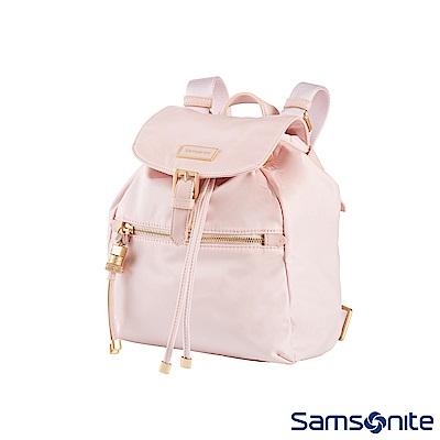 Samsonite新秀麗 KARISSA 經典時尚抽繩吊飾後背包XS(玫瑰粉)