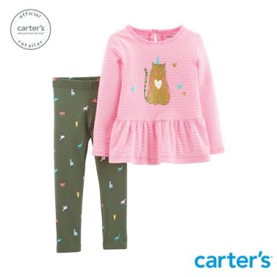 Carter's台灣總代理 俏皮貓咪2件組套裝