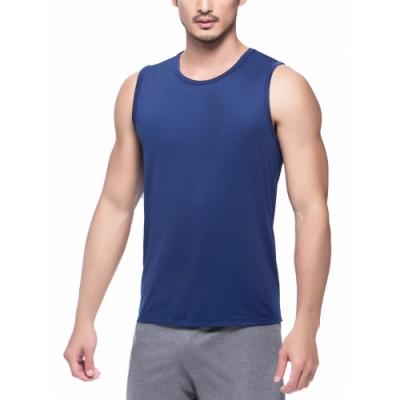 3GUN 型男吸濕排汗涼爽短袖寬肩背心3件組 隨機取色