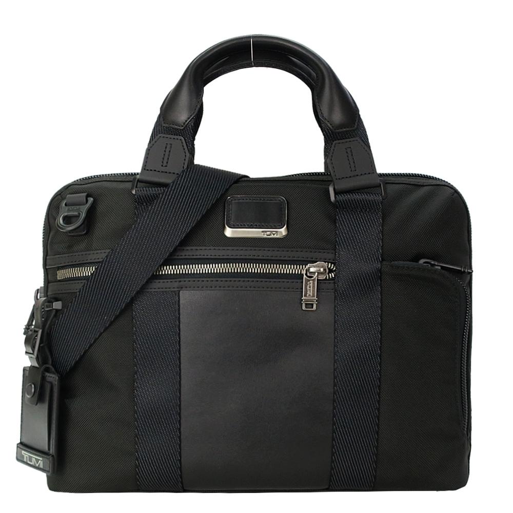 TUMI ALPHA BRAVO CHARLESTON系列14吋筆電多夾層兩用手提包(黑)