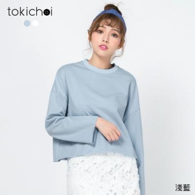 東京著衣 休閒舒適簡約長袖上衣-S.M.L
