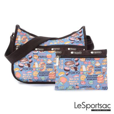LeSportsac - Standard側背水餃包-附化妝包 (美食誌)