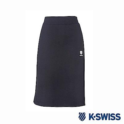 K-Swiss H-line Skirts修身及膝裙-女-黑