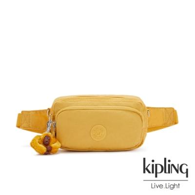 Kipling 鮮豔太陽黃雙層隨身腰包-HOPE