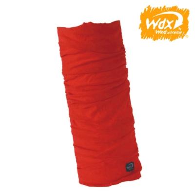 【Wind x-treme】美麗諾羊毛保暖多功能頭巾 5711 橙紅(透氣、圍領巾、西班牙)