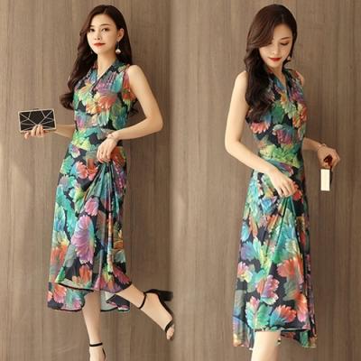 【韓國K.W.】(預購)輕鬆百搭印花洋裝