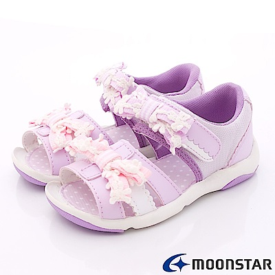 日本Carrot機能童鞋 小花穩定涼鞋款 TW1529紫(中小童段)