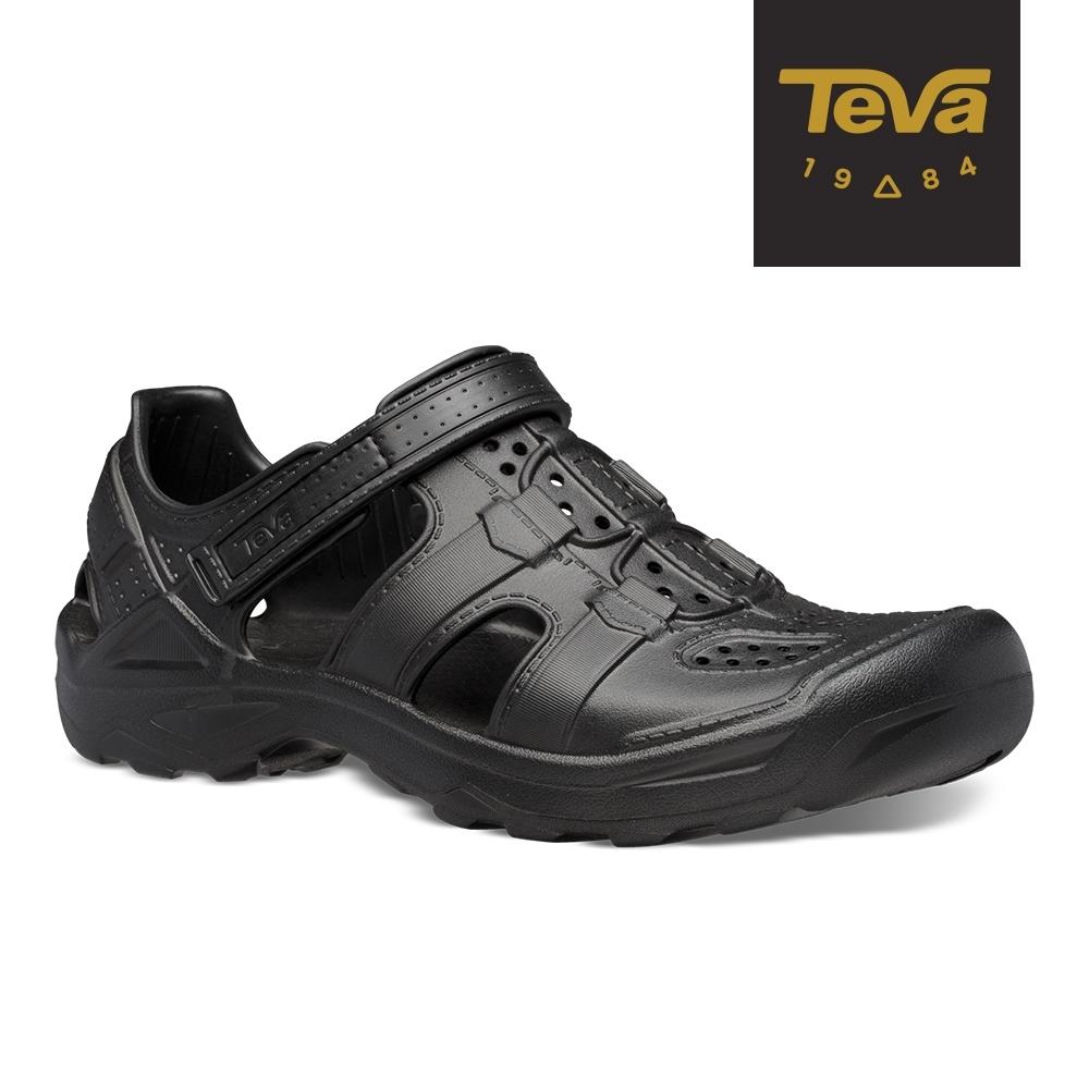 【TEVA】原廠貨 男 Omnium Drift 水陸輕量護趾涼鞋/雨鞋/水鞋(黑色-TV1107829BLK)
