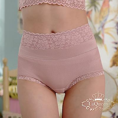 內褲 全蠶絲中高腰收腹包覆褲-豆沙 La Queen
