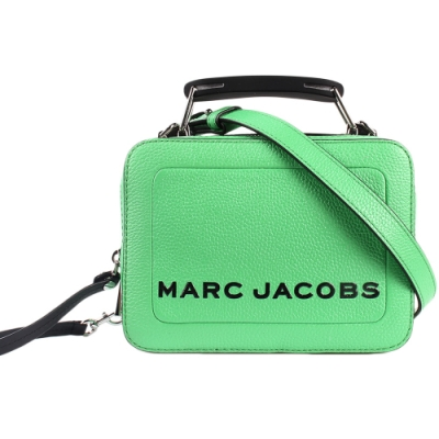 MARC JACOBS 經典THE BOX 20雙拉鍊手提斜背兩用包-小/青蘋綠