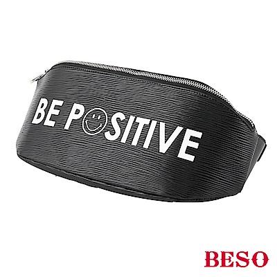 BESO 正面力量 笑臉標語兩用包~黑