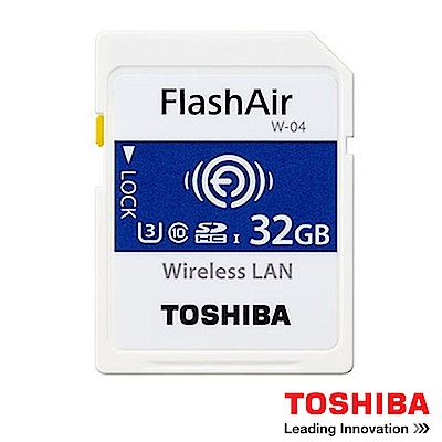 TOSHIBA 東芝 32G FlashAir WIFI SDHC W-04 記憶卡
