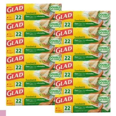 GLAD 可封式三明治 食物 水果 保鮮袋22入裝 12入組