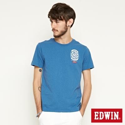 EDWIN RIDE NEVER STOP T恤-男-灰藍