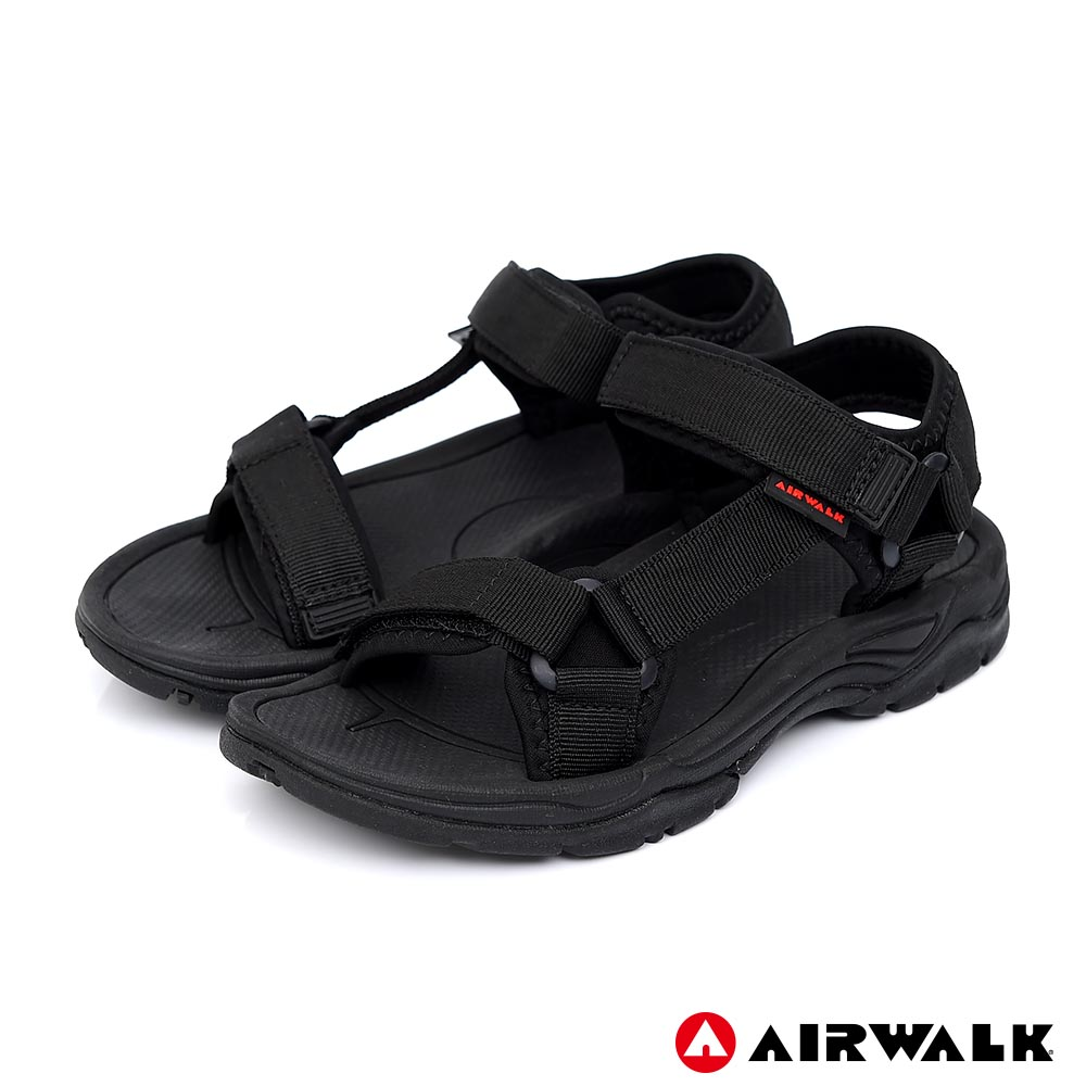 【AIRWALK】Y字造型休閒涼鞋-女款-黑色