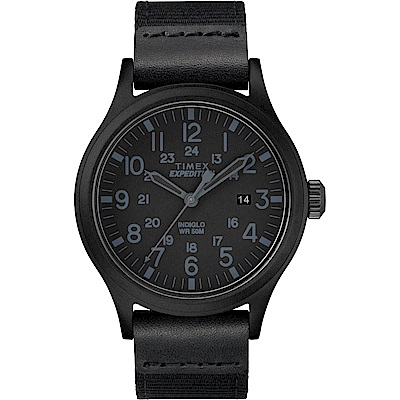 TIMEX 天美時 遠征系列 探險手錶-黑-40mm