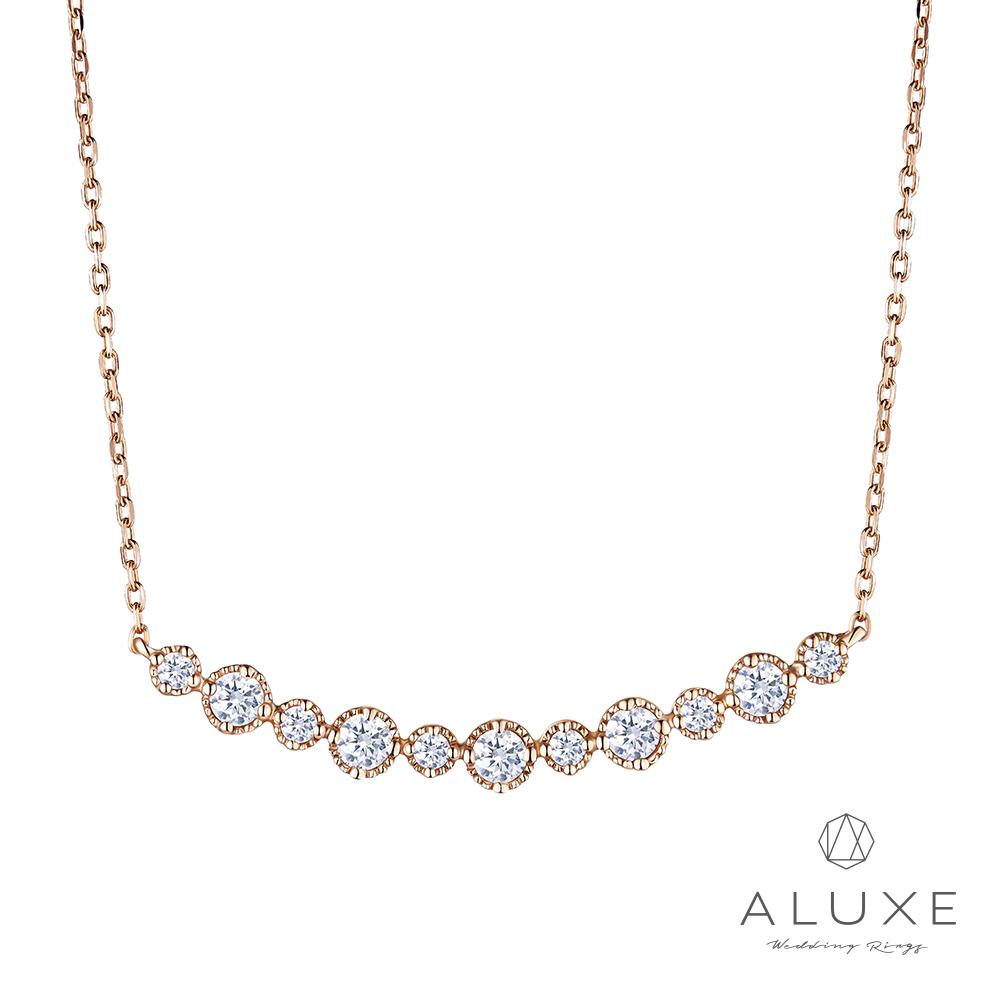ALUXE亞立詩 Love Imprint 18K金鑽石項鍊