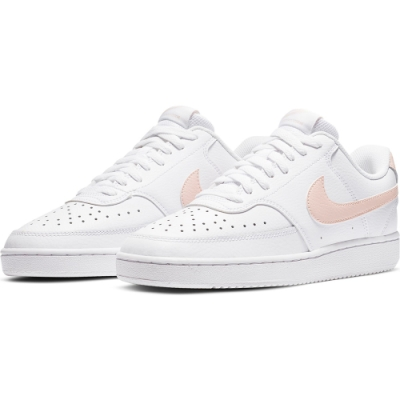 NIKE 休閒鞋 運動鞋 女鞋 粉白 CD5434105 WMNS NIKE COURT VISION LOW
