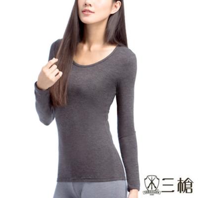 三槍牌 時尚經典女Q-HEAT超彈性長袖發熱衣~2件組隨機取色